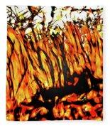 Abstract Saw Grass Iv Fleece Blanket