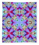 Abstract Seamless Pattern  - Blue Pink Purple Red Green Brown White Fleece Blanket