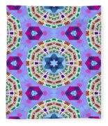 Abstract Seamless Pattern  - Blue Purple Pink Violet Lilac Orange Green Fleece Blanket