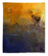 Abstract Seascape Fleece Blanket