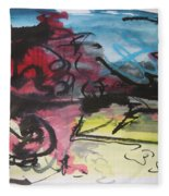 Abstract Sketch18 Fleece Blanket