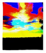 Abstract Sky Fleece Blanket