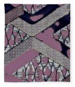 Abstract Slates Fleece Blanket
