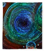 Abstract Space Art. Sparkling Antimatter Fleece Blanket