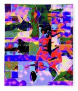 Abstract Sports Montage Fleece Blanket