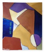 Abstract Square  Fleece Blanket
