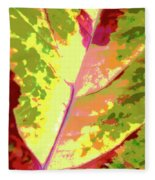 Abstract Summer's End Fleece Blanket