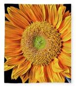 Abstract Sunflower Fleece Blanket
