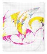 Abstract Swan Fleece Blanket