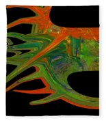 Abstract Tenticles Fleece Blanket