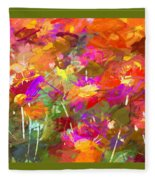 Abstract Thought Processes Fleece Blanket