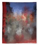 Red And Blue - Abstract Tiles No. 16.0110 Fleece Blanket