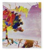 Abstract Tree 33w Fleece Blanket