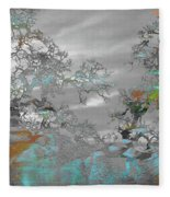 Abstract Tree Art 1 Fleece Blanket