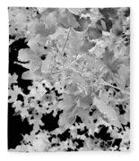 Abstract Tree Landscape Dark Botanical Art Black Noir Fleece Blanket