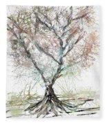 Abstract Tree Fleece Blanket