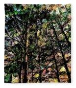 Abstract Trees 691 Fleece Blanket
