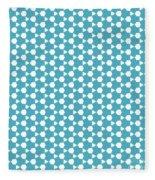 Abstract Turquoise Pattern 1 Fleece Blanket