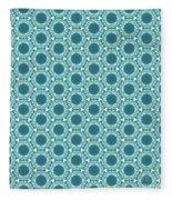 Abstract Turquoise Pattern 2 Fleece Blanket