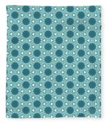 Abstract Turquoise Pattern 3 Fleece Blanket
