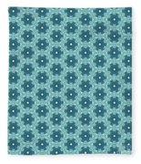 Abstract Turquoise Pattern 4 Fleece Blanket