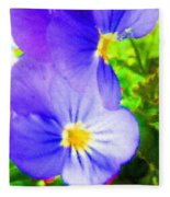 Abstract Violets Fleece Blanket
