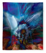Abstract Visual Fleece Blanket