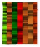 Abstract W-1 Colorist-2 Fleece Blanket