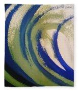 Abstract Waves Fleece Blanket