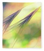 Abstract Weeds Yellow Fleece Blanket