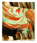 Abstract Whirls Within A Window Fleece Blanket