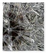 Abstract Wildflower 7 Fleece Blanket