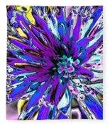 Abstract Wildflower 9 Fleece Blanket