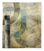 Abstract With Circles Fleece Blanket