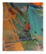 Abstract With Gold - Close Up 7 Fleece Blanket