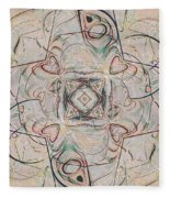 Abstract With Hearts Fleece Blanket