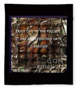 Abstract With Quote Fleece Blanket