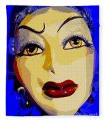 Abstract Woman #2 Fleece Blanket