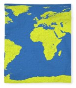 Abstract World Map 0317 Fleece Blanket