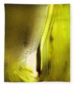 Abstract Yellow Fleece Blanket