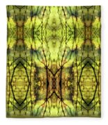 Abstract Yellow Trees Fleece Blanket