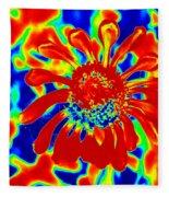 Abstract Zinnia Fleece Blanket