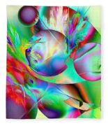 Abstract051710b Fleece Blanket