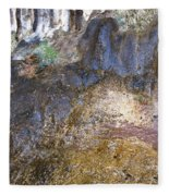 Abstraction In Color And Texture From Wet Rock Fleece Blanket