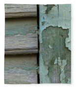 Abstraction In Peeling Paint Close-up Fleece Blanket