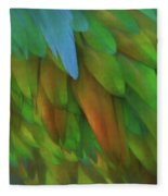 Abstractions From Nature - Pigeon Feathers Fleece Blanket