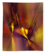 Abstracts Gold And Red 060512 Fleece Blanket