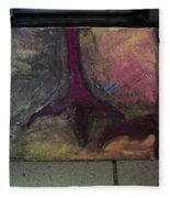 Abstracty Crows Feet Fleece Blanket