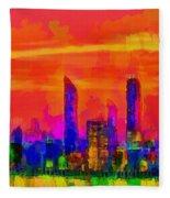 Abu Dhabi Skyline - Da Fleece Blanket