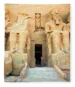 Abu Simbel 2 Fleece Blanket
